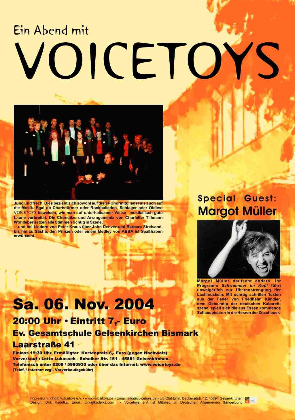 Plakat Konzert November 2004