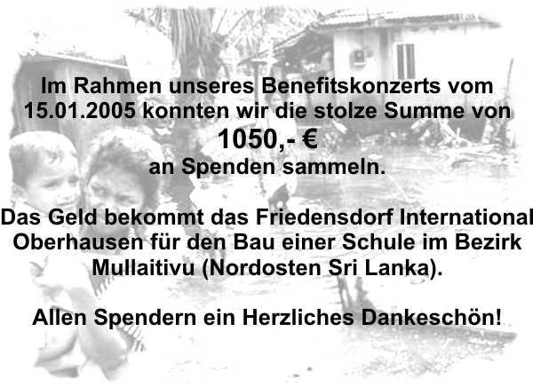 Info zur Spende Konzert Janauar 2005