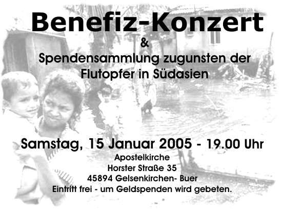 Plakat Konzert Januar 2005