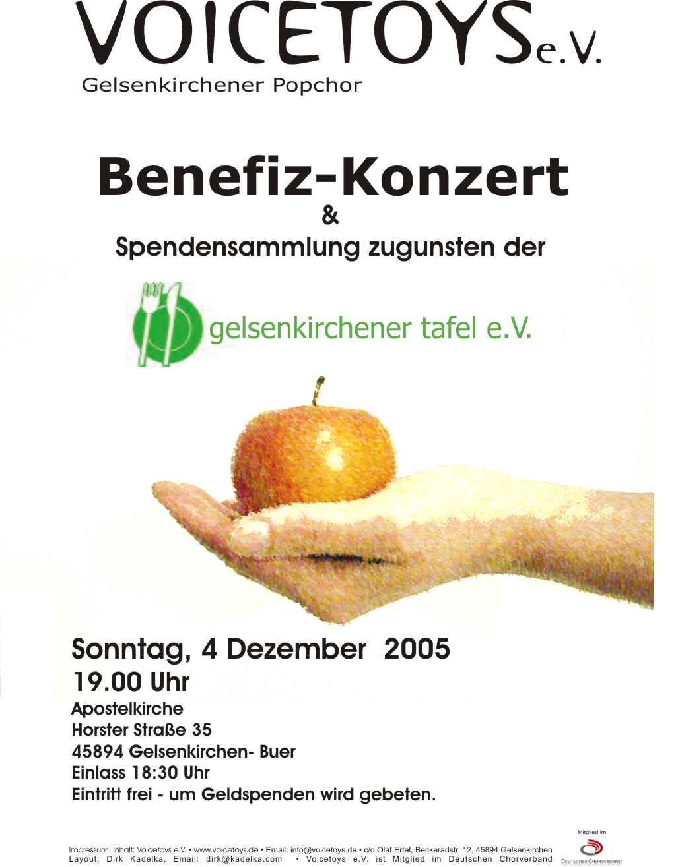 Plakat Konzert Dezember 2005
