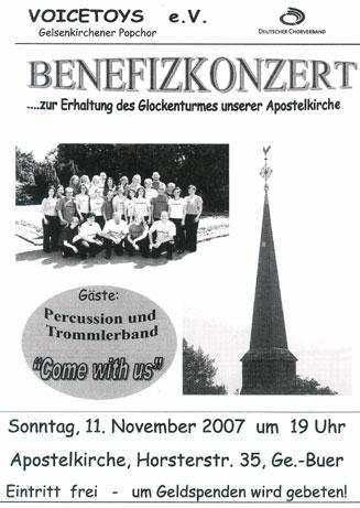 Plakat Konzert Novmber 2007