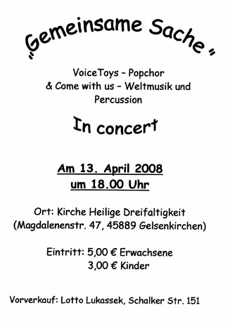 Plakat Konzert April 2008