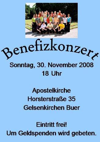 Plakat Konzert November 2008