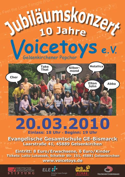 Plakat Jubiläumskonzert März 2010